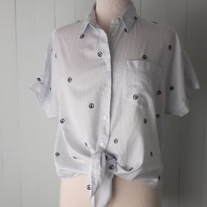 Madewell buttondown top size s